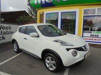 USED 2014 14 NISSAN JUKE 1.6 VISIA 5d 94 BHP 1 OWNER FROM NEW....FULL SERVICE HISTORY....CALL 01543 877320 TODAY