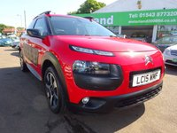 USED 2015 15 CITROEN C4 CACTUS 1.2 PURETECH FLAIR 5d 80 BHP 1 OWNER FROM NEW....FULL DEALER HISTORY....CALL TODAY ON 01543 877320