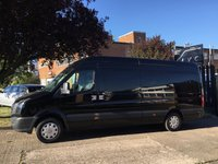 USED 2012 62 VOLKSWAGEN CRAFTER 2.0 TDI CR35 LWB HIGH ROOF 136BHP. RARE BLACK BIG SPEC. BLACK. LOW RATE FINANCE. PX WELCOME