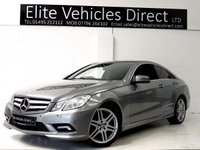 2011 MERCEDES-BENZ E CLASS 2.1 E250 CDI BLUEEFFICIENCY SPORT 2d AUTO 204 BHP £10691.00