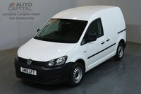 USED 2015 15 VOLKSWAGEN CADDY 1.6 C20 TDI STARTLINE 101 BHP SWB ONE OWNER FROM NEW, SERVICE HISTORY