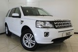 USED 2013 62 LAND ROVER FREELANDER 2.2 TD4 XS 5DR 150 BHP SERVICE HISTORY + HEATED LEATHER SEATS + SAT NAVIGATION + BLUETOOTH + PARKING SENSOR + CRUISE CONTROL + MULTI FUNCTION WHEEL + 17 INCH ALLOY WHEELS