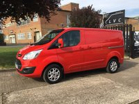 USED 2013 63 FORD TRANSIT CUSTOM 2.2TDCI 290 LIMITED LOW ROOF 155BHP. AIR CON. ONLY 41K LOW MLS HUGE SPEC. LOW 41,000 MILES. FSH. FINANCE. PX