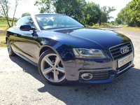 2011 AUDI A5 CABRIOLET 2.0 TDI S LINE 2d FULL HEATED LEATHER & EXTRAS £8950.00