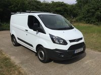 USED 2015 15 FORD TRANSIT CUSTOM 2.2 290 LR P/V 1d 124 BHP LOW MILES  1 GENUINE LOW MILES, NEW MOT AND SERVICE AT MAIN DEALER