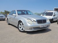 USED 2003 53 MERCEDES-BENZ E CLASS 2.7 E270 CDI AVANTGARDE 4d AUTO 177 BHP GOOD CONDITION, LONG MOT, 2 KEYS, ICE COLD AIR-CON