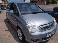 USED 2008 08 VAUXHALL MERIVA 1.6 BREEZE PLUS 5d 100 BHP