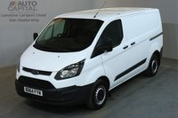 USED 2014 64 FORD TRANSIT CUSTOM 2.2 290 99 BHP L1 H1 SWB LOW ROOF    ONE OWNER FROM NEW, SERVICE HISTORY