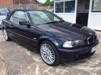 USED 2001 51 BMW 3 SERIES CABRIOLET BLUE HOOD - 320CI RARE AUTO LOW MILEAGE AUTOMATIC
