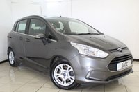 USED 2015 15 FORD B-MAX 1.0 ZETEC 5DR 125 BHP SERVICE HISTORY + BLUETOOTH + MULTI FUNCTION WHEEL + PARKING SENSOR + AIR CONDITIONING + 15 INCH ALLOY WHEELS
