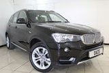 USED 2015 15 BMW X3 2.0 XDRIVE20D XLINE 5DR AUTOMATIC 188 BHP SERVICE HISTORY + HEATED LEATHER SEATS + SAT NAVIGATION + PARKING SENSOR + BLUETOOTH + CRUISE CONTROL + CLIMATE CONTROL + 18 INCH ALLOY WHEELS