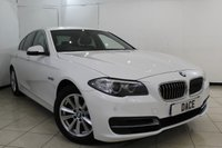 USED 2015 15 BMW 5 SERIES 2.0 518D SE 4DR AUTOMATIC 148 BHP SERVICE HISTORY + HEATED LEATHER SEATS + SAT NAVIGATION + BLUETOOTH + PARKING SENSOR + CRUISE CONTROL + CLIMATE CONTROL + 17 INCH ALLOY WHEELS