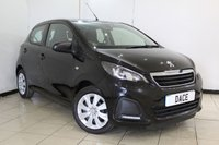 USED 2015 15 PEUGEOT 108 1.0 ACTIVE 5DR 68 BHP PEUGEOT SERVICE HISTORY + BLUETOOTH + MULTI FUNCTION WHEEL + AIR CONDITIONING + RADIO/CD + ELECTRIC WINDOWS