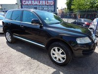 USED 2006 06 VOLKSWAGEN TOUAREG 2.5 TDI SE SPORT 5d AUTO 172 BHP BLACK LEATHER, SAT NAV, AIR CON, ALLOYS