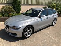 USED 2015 BMW 3 SERIES 2.0 318D SE TOURING 5d 141 BHP POWER TAILGATE, SAT NAV, LEATHER, 67 MPG!!