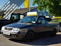 USED 1998 S VOLKSWAGEN CADDY 1.9 SD 1d 63 BHP! p/x welcome! MATT BLACK/GREY FINISH! FULL LEATHER ELECTRIC SEATS! UPGRADED 15in ALLOYS! 83K MILES ONLY! AUX & USB PORTS! BLUETOOTH! NEW MOT & SERVICE! AA WARRANTY & BREAKDOWN COVER! LEATHER+AUX&USB+B/TOOTH+ALLOYS+MAT GREY FINISH+ELEC SEATS+83K MILES+AA WARRANTY & BREAKDOWN COVER!