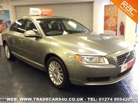 USED 2008 57 VOLVO S80  2.4 D5 GEARTRONIC AUTO DIESEL SE UK DELIVERY* RAC APPROVED* FINANCE ARRANGED* PART EX