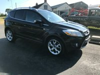 USED 2012 62 FORD KUGA 2.0 TITANIUM TDCI AWD 5d 163 BHP 45000 miles black fsh very clean example