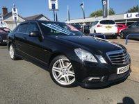 2011 MERCEDES-BENZ E CLASS 2.1 E220 CDI BLUEEFFICIENCY SPORT 4d AUTO 170 BHP £SOLD