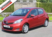 USED 2012 12 TOYOTA YARIS 1.3 VVT-I TR 5d 98 BHP +++ FREE 6 months Autoguard Warranty included in screen price +++