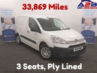 USED 2015 15 CITROEN BERLINGO 1.6  LX  HDI THREE SEATS, Low Mileage 33869, 2 Remote Keys, 4.9 % Flat Rate Finance Available Fully Ply Lined,  3 Seats, Low Mileage