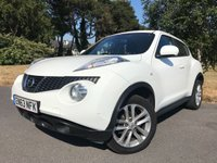 USED 2014 63 NISSAN JUKE 1.6 ACENTA 5d AUTO 117 BHP PURE WHITE, AUTOMATIC, LOVELY CAR,CHEAP TO RUN, READY TO GO!!
