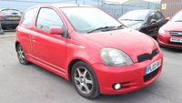 2002 TOYOTA YARIS 1.5 T SPORT VVT-I 3d 105 BHP £490.00