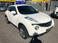 2013 NISSAN JUKE 1.5 TEKNA DCI 5d 110 BHP IN WHITE WITH ONLY 42000 MILES IN IMMACULATE CONDITION £7999.00