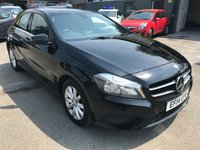 2014 MERCEDES-BENZ A CLASS 1.6 A180 BLUEEFFICIENCY SE 5 DOOR PETROL 122 BHP IN BLACK WITH ONLY 36000 MILES £11499.00