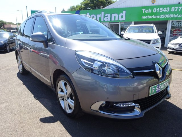 USED 2014 64 RENAULT GRAND SCENIC 1.6 DYNAMIQUE TOMTOM DCI S/S 5d 130 BHP £30 A YEAR ROAD TAX....SAT NAV....7 SEAT.....FULL SERVICE HISTORY.