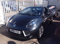 USED 2010 60 RENAULT WIND ROADSTER 1.6 DYNAMIQUE S VVT 2d 133 BHP Open top fun in the sun. 46000 miles, black, alloys, superb.