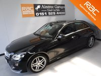 USED 2014 14 MERCEDES-BENZ E CLASS 2.1 E220 CDI AMG SPORT 4d AUTO 168 BHP REAL EXAMPLE OF A STUNNING AND VERY WELL LOOKED AFTER PRESTIGE VEHICLE FINISHED INOBSIDIAN BLACK WITH HALF LEATHER/ANTARA , DAUL CLIMATE CONTROL FITTED WITH ICE COLD AIR CON FOR THEM HOT SUMMER DAYS LEATHER CLAD MULTI FUNCTION FLAT BOTTOM STEERING WHEEL, SAT NAV, REAR ENTERTAINMENT TO KEEP THE KIDS HAPPY ON A LONG RUN, USB, HEATED SEATS. PHONE PRE