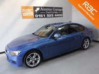 USED 2013 63 BMW 3 SERIES 2.0 320D M SPORT 4d AUTO 181 BHP ; A REAL EXAMPLE OF A STUNNING AND VERY WELL LOOKED AFTER PRESTIGE CAR VEHICLE FINISHED IN ESTORIL BLUE WITH FULL HEATED BLACK LEATHER, ICE COLD AIR CON FOR THOSE HOT SUMMER DAYS BUSINESS MEDIA PACK, PARKING SENSORS, SAT NAV, 18INCH ALLOYS, GREAT CAR