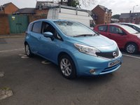 USED 2014 64 NISSAN NOTE 1.2 TEKNA DIG-S 5d AUTO 98 BHP AUTOMATIC WITH LOW CO2 EMISSIONS, £30 ROAD TAX, CHEAP TO RUN, EXCELLENT FUEL ECONOMY, AND TOP OF THE RANGE SPECIFICATION. SPECIFICATION INCLUDES ALLOY WHEELS, PARKING SENSORS, SUBSTITUTE LEATHER, AUXILLIARY INPUT/USB, CRUISE CONTROL, MEDIA AND SATELLITE NAVIGATION. ALSO FULL NISSAN SERVICE HISTORY WITH 8640 MILES FROM NEW!