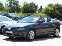 USED 2010 10 AUDI A3 1.6 TDI SPORT 2d 103 BHP CONVERTIBLE + FULL RED LEATHER INTERIOR