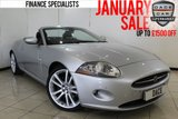 USED 2007 07 JAGUAR XK 4.2 CONVERTIBLE 2DR AUTOMATIC 294 BHP FULL SERVICE HISTORY SERVICE HISTORY + 0% FINANCE AVAILABLE T&C'S APPLY + HEATED LEATHER SEATS + SAT NAVIGATION + BLUETOOTH + PARKING SENSOR + CRUISE CONTROL + MULTI FUNCTION WHEEL + CLIMATE CONTROL + 19 INCH ALLOY WHEELS