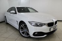USED 2014 64 BMW 4 SERIES GRAN COUPE 2.0 420D SPORT GRAN COUPE 5DR AUTOMATIC 181 BHP SAT NAV FULL BMW SERVICE HISTORY + HEATED LEATHER SEATS + SAT NAVIGATION + PARKING SENSOR + BLUETOOTH + CRUISE CONTROL + CLIMATE CONTROL + MULTI FUNCTION WHEEL + 18 INCH ALLOY WHEELS