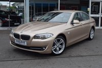 USED 2013 13 BMW 5 SERIES 2.0 520D SE 4d AUTO 181 BHP Oyster Dakota leather
