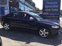 2010 VOLVO S40 2.0 R-DESIGN 4d 145 BHP, only 44000 miles, only 2 previous owners £5995.00