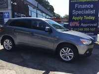 2011 MITSUBISHI ASX 1.8 DI-D 3 5d 147 BHP, only 66000 miles, 2 Owners £7495.00