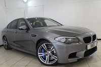 USED 2011 61 BMW M5 4.4 M5 4DR AUTO 553 BHP SERVICE HISTORY + HEATED MERINO LEATHER SEATS + SAT NAVIGATION PROFESSIONAL + REVERSE CAMERA + BLUETOOTH + CRUISE CONTROL + MULTI FUNCTION WHEEL + CLIMATE CONTROL + 19 INCH ALLOY WHEELS