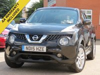 USED 2015 15 NISSAN JUKE 1.5 ACENTA DCI 5d 110 BHP 3 MONTHS EXTENDABLE AA WARRANTY INCLUDED
