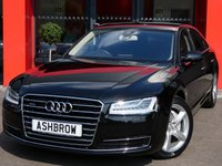 USED 2016 16 AUDI A8 3.0 TDI QUATTRO SE EXECUTIVE 4d AUTO 260 S/S £3655 OF OPTIONS, UPGRADE 19 INCH 5 ARM DESIGN ALUMINIUM ALLOYS, UPGRADE 4 SPOKE HEATED LEATHER MULTIFUNCTION STEERING WHEEL WITH PADDLES, UPGRADE COMFORT SPORT SEATS WITH MEMORY, UPGRADE ELECTRIC FOLDING DIMMING HEATED MEMORY MIRRORS, UPGRADE 3 POINT FRONT SEAT BELT WITH ELECTRIC HEIGHT ADJUSTMENT & MEMORY, UPGRADE BLUETOOTH PHONE PREP HIGH WITH AUDI CONNECT, UPGRADE PARKING SYSTEM ADVANCED WITH TOP VIEW, UPGRADE PRIVACY GLASS, 1 OWNER, FULL AUDI HISTORY, BALANCE OF AUDI WARRANTY