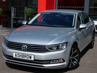 USED 2015 15 VOLKSWAGEN PASSAT 2.0 TDI SE BUSINESS BLUEMOTION TECH 4d 150 S/S £20 TAX, FULL VOLKSWAGEN SERVICE HISTORY, UPGRADE 17 IN NIVELLES ANTHRACITE ALLOYS, SAT NAV, PARKPILOT FRONT + REAR PARKING SENSORS W/ DISPLAY, DAB, BLUETOOTH W/ AUDIO STREAMING, ACC ADAPTIVE CRUISE CONTROL, ELECTRIC POWER FOLDING HEATED DOOR MIRRORS, ALUMINIUM ROOF RAILS, AUTO LIGHTS + WIPERS, KEYLESS START, TINTED GLASS, LEATHER MULTI FUNCTION STEERING WHEEL, AUTO HOLD, DRIVING MODE SELECT, AUX + USB, SD READER X2, ISO FIX, PART ELECTRIC DRIVER'S SEAT W/ LUMBAR SUPPORT, VAT QUALIFYING.