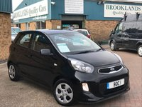2016 KIA PICANTO 1.0 1 5 Door Galaxy Black with Grey Cloth 65 BHP £6495.00
