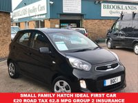 USED 2016 16 KIA PICANTO 1.0 1 5 Door Galaxy Black with Grey Cloth 65 BHP Small Family Hatch IDEAL FIRST CAR £20 Road Tax 62.8 MPG Group 2 Insurance