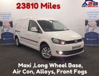 USED 2014 64 VOLKSWAGEN CADDY MAXI 1.6 C20 TDI HIGHLINE  Long Wheel Base, Air Con, Low Mileage 23810, 2 Sliding Doors *Over The Phone Low Rate Finance Available*   *UK Delivery Can Also Be Arranged*