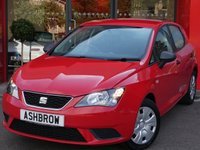 USED 2016 16 SEAT IBIZA 1.0 S 5d 75 BHP NEW SHAPE / FACELIFT MODEL, DAB RADIO, BLUETOOTH PHONE & MUSIC STREAMING, MANUAL 5 SPEED GEARBOX, COLOUR CODED EXTERIOR, MULTIFUNCTION STEERING WHEEL, AIR CONDITIONING, SD CARD READER, AUX & USB INPUTS, TOUCH SCREEN RADIO, ELECTRIC WINDOWS, ELECTRIC DOOR MIRRORS, TYRE PRESSURE MONITORING SYSTEM.  1 OWNER FROM NEW, SEAT SERVICE HISTORY, BALANCE OF MANUFACTURERS WARRANTY, £30 ROAD TAX (118 G/KM), VAT QUALIFYING