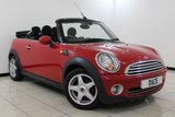 USED 2010 10 MINI CONVERTIBLE 1.6 COOPER 2DR 120 BHP CHILI PACK HALF LEATHER SEATS + BLUETOOTH + PARKING SENSOR + CRUISE CONTROL + CLIMATE CONTROL + MULTI FUNCTION WHEEL + RADIO/CD + 15 INCH ALLOY WHEELS