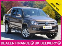 USED 2014 63 VOLKSWAGEN AMAROK 2.0 BITDI HIGHLINE 4MOTION 180 BHP AUTOMATIC HARDTOP CANOPY SPORT TONNEAU COVER LEATHER SAT NAV HEATED SEATS